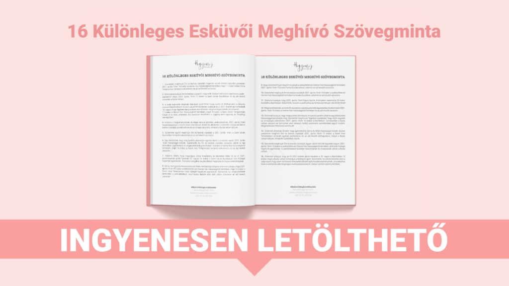 Ingyenesen letölthető 16 Különleges Esküvői Meghívó Szövegminta Hegyvari's Design