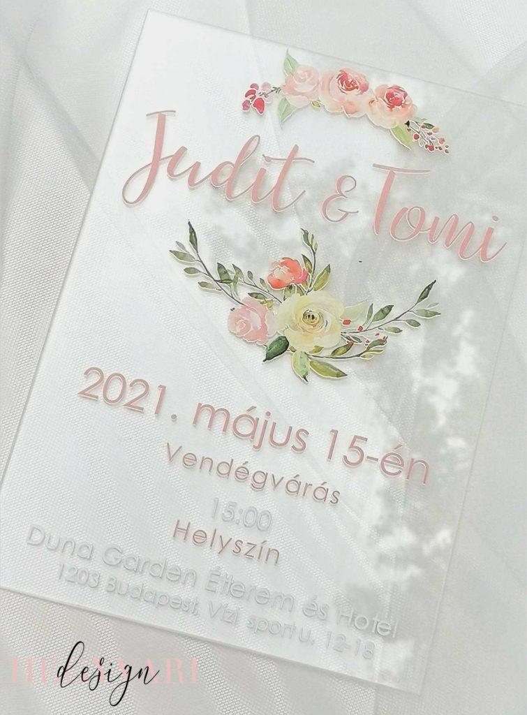 Esküvői Meghívó Hegyvari Design